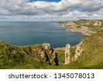view from the south west coast... | Shutterstock . vector #1345078013
