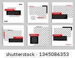 new set of editable minimal... | Shutterstock .eps vector #1345086353