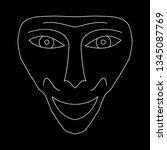contour face drawing  sketch ...   Shutterstock .eps vector #1345087769