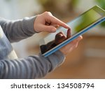 close up of hand holding... | Shutterstock . vector #134508794