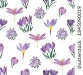 seamless pattern of single...   Shutterstock . vector #1345090019