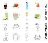 isolated object of drink and... | Shutterstock .eps vector #1345094453