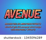 original italic alphabet retro... | Shutterstock .eps vector #1345096289