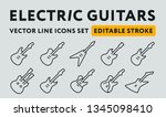 classic famous electric rock... | Shutterstock .eps vector #1345098410
