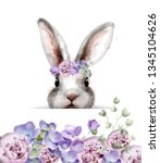 Bunny Rabbit With Flowers...
