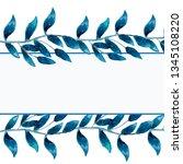watercolor illustration of blue ... | Shutterstock . vector #1345108220