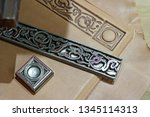embossing tools with dragon...   Shutterstock . vector #1345114313