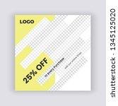 creative social media banner... | Shutterstock .eps vector #1345125020