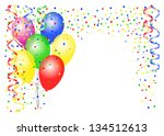 vector illustration of party... | Shutterstock .eps vector #134512613