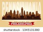 philadelphia pennsylvania city... | Shutterstock .eps vector #1345131380