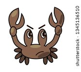 frustrated crab is about to... | Shutterstock .eps vector #1345136510