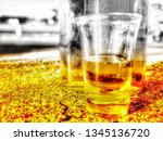 pictures of alcoholic drinks... | Shutterstock . vector #1345136720