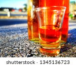 pictures of alcoholic drinks... | Shutterstock . vector #1345136723
