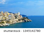 beautiful port city. city... | Shutterstock . vector #1345142780