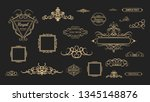 vintage decor elements and... | Shutterstock .eps vector #1345148876