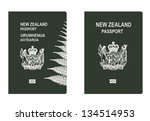 new zealand passport | Shutterstock .eps vector #134514953