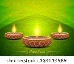 colorful background for diwali... | Shutterstock .eps vector #134514989
