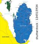 qatar map   Shutterstock .eps vector #134515934
