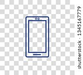 line icon  mobile phone icon in ... | Shutterstock .eps vector #1345167779