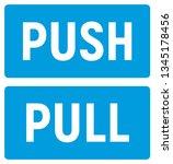 push or pull to open. door... | Shutterstock .eps vector #1345178456