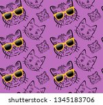 purple seamless pattern with... | Shutterstock .eps vector #1345183706