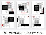 new set of editable minimal... | Shutterstock .eps vector #1345194539