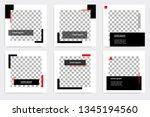 new set of editable minimal... | Shutterstock .eps vector #1345194560