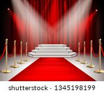 red carpet celebrities event... | Shutterstock .eps vector #1345198199