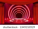 stage podium with lighting ... | Shutterstock .eps vector #1345210529