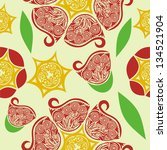 floral pattern seamless... | Shutterstock .eps vector #134521904