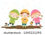 illustration of kids wearing... | Shutterstock .eps vector #1345221293