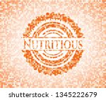 nutritious abstract orange... | Shutterstock .eps vector #1345222679