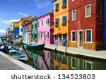 Colorful Buildings In Burano...
