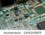 printed circuit board with... | Shutterstock . vector #1345243859