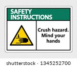 safety instructions crush...   Shutterstock .eps vector #1345252700