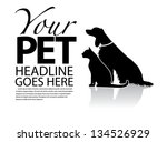 Stock vector dog and cat silhouette template eps vector grouped for easy editing no open shapes or paths 134526929