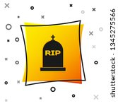 black tombstone with rip... | Shutterstock .eps vector #1345275566