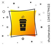 black coffee cup icon isolated... | Shutterstock .eps vector #1345279433