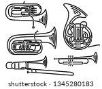 Set Of Simple Brass Wind...