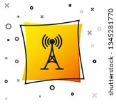 black antenna icon isolated on... | Shutterstock .eps vector #1345281770