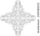 retro baroque decorations... | Shutterstock .eps vector #1345282013