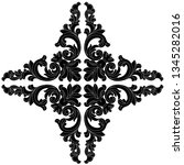 retro baroque decorations... | Shutterstock .eps vector #1345282016