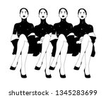 vector hand drawn illustration... | Shutterstock .eps vector #1345283699