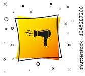 black hair dryer icon isolated... | Shutterstock .eps vector #1345287266