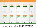 vector india country waving... | Shutterstock .eps vector #1345297253