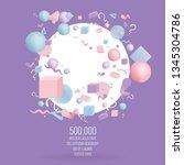 3d figures realistic vector...   Shutterstock .eps vector #1345304786