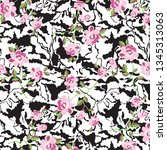 animal print  leopard texture... | Shutterstock .eps vector #1345313063