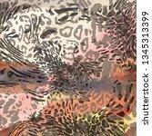 animal print  leopard texture... | Shutterstock .eps vector #1345313399