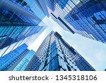 skyscrapers  looking up... | Shutterstock . vector #1345318106