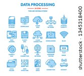 cloud computing. internet... | Shutterstock .eps vector #1345318400